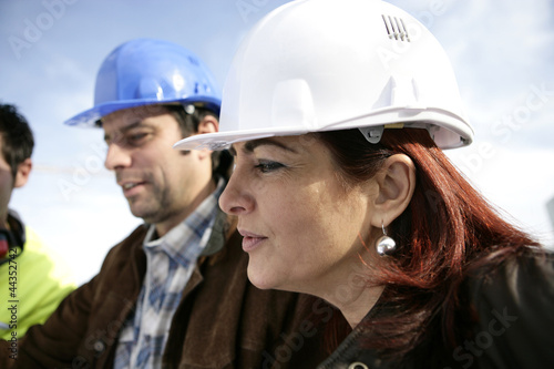 Portrait of supervisor and forewoman