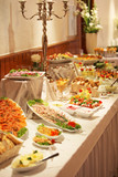 Cold buffet display with an assortment