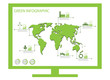 Green ecology info graphics collection