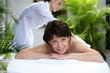Mature woman having a massage
