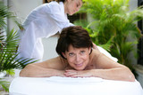 Mature woman having a massage