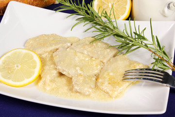 scaloppine latte e limone