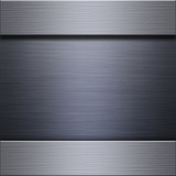 Brushed steel and aluminum metal plate