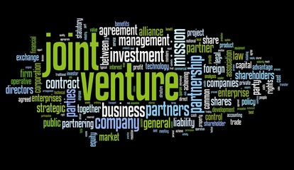 Joint venture concept in tag cloud