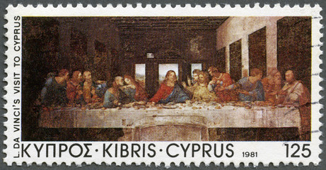 "CYPRUS - 1981: shows ""The Last Supper"" by Da Vinci"