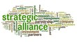 Strategic alliance concept in tag cloud