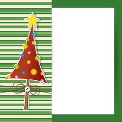 Christmas Tree Card - biglietto con albero di Natale