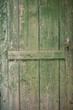 Old green wooden door