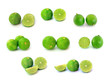 Fresh ripe lime on white background