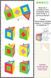 Educational visual math puzzle