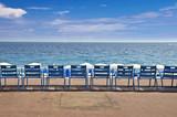 Fototapety Chaises sur la Promenade des Anglais - Nice, France