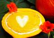 Kürbiscremesuppe mit Herz