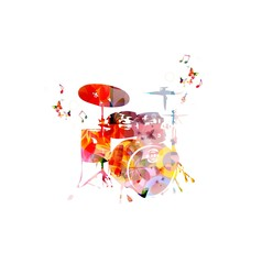 colorful music background. vector