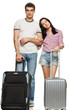 Young couple ready for romantic trip