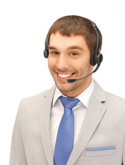 friendly male helpline operator