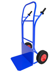 The blue pushcart