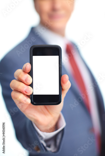 Businessman with a phone.