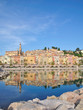 Blick auf Menton an der Cote d`Azur