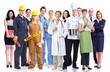 Leinwanddruck Bild - Group of industrial workers.