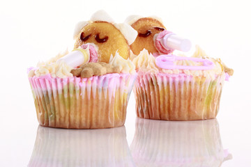 Baby shaped cupcakes