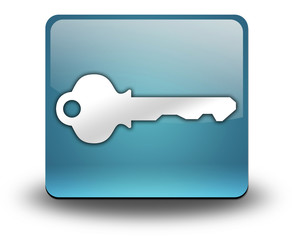 "Light Blue 3D Effect Icon ""Key / Login Symbol"""
