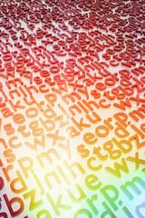 Letras de alfabeto de colores