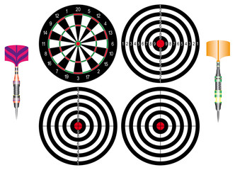 Set of Dartboards and of Classic darts