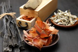 small dried sardines and dried bonito  poster