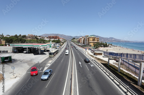 Highway A7 in Fuengirola, Costa del Sol, Andalusia Spain