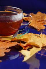 Tee im Herbst
