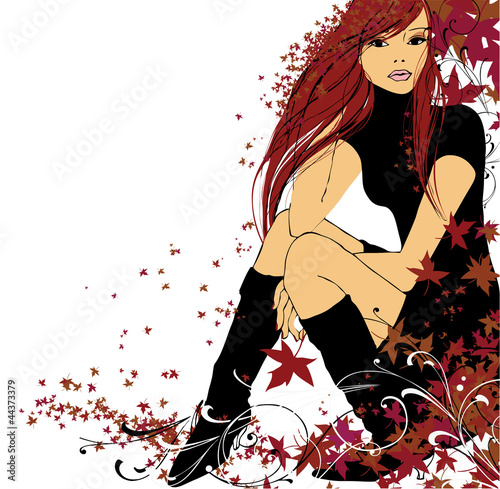 Fototapeta Autumn illustration