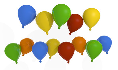 Colorful balloons with space for your text