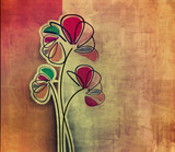Fototapety abstract spring flower pattern background.