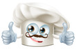 Happy cartoon chef character