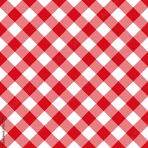 Tuinposter Stof Tablecloth pattern