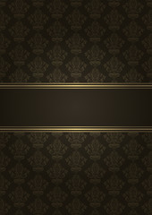 Vector brown and gold luxury background
