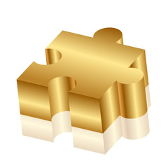 Vector 3d illustration of puzzle