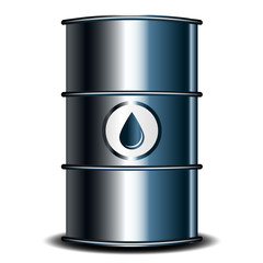 Vector illustration of oil barrel
