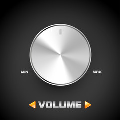 Volume button, metal concept