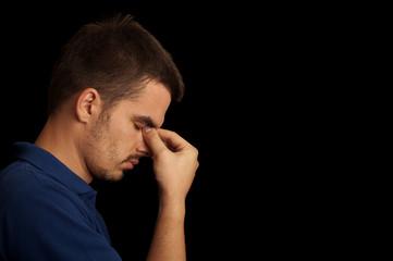 Man having a headache