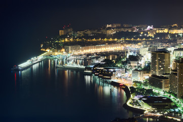 Monacoo at night
