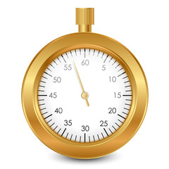 Vector illustration of gold stopwatch