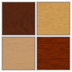 Vector illustration of wooden textures
