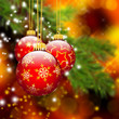 Weihnachtskarte, Christbaumschmuck, Weihnachten, Christmas, Deko
