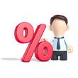 Männchen mit dem Prozent-Zeichen