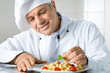 Garnish a gourmet dish