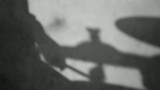 Drummer Shadow Movement in Black and White