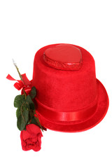 Red Rose & Candy On Top Hat