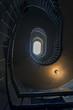 Grunge spiral stairs hall