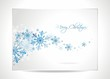 Vector Christmas greeting card illustration with snowflakes.